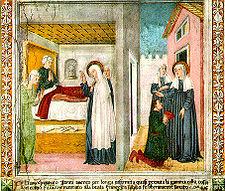 Storie di santa Francesca Romana di Antoniazzo Romano