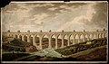 Aqueduct, Lisbon, Portugal; panoramic view. Coloured aquatin Wellcome V0012840.jpg