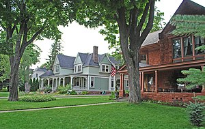 National Register of Historic Places listings in Marquette County, Michigan - Image: Arch and Ridge Streets Historic District 2009e