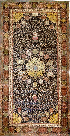 Islamic art - The Ardabil Carpet, probably the finest surviving Persian carpet, Tabriz, mid-16th century