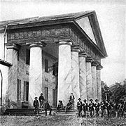 Arlington House, with Union Soldiers