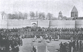 Armenian 3rd battalion cavalry and troops rallying at Etchmiadzin 1914.png