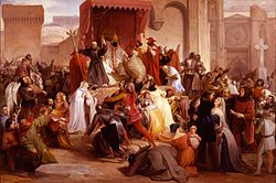 Francesco Hayez: Pope Urban II preaching the first crusade in the square of Clermont