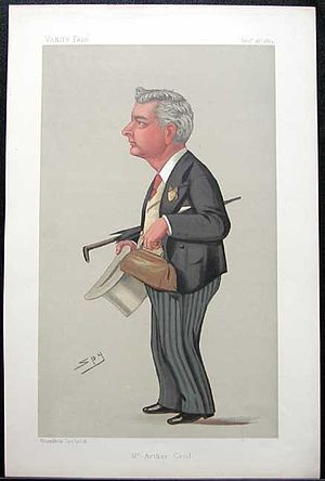 Arthur Cecil - Cartoon of Cecil from Spy