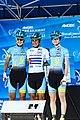 Astana before the start of Stage 3 in Elk Grove (34916922325).jpg