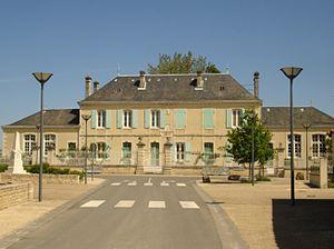 Aubigné, Deux-Sèvres - The town hall in Aubigné