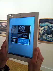 Augmented reality at Museu de Mataró linking to Catalan Wikipedia (13).JPG