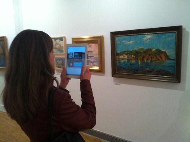 Photo of augmented reality in use