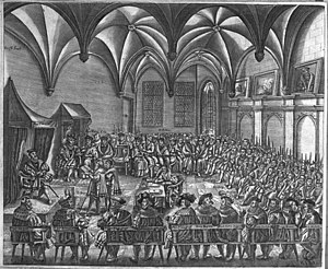 Prince-Bishopric of Augsburg - Reading of the Confessio Augustana by Emperor Charles V at the Diet of Augsburg, 1530