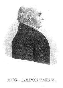 Porträt August Lafontaine (Frontispiz zu Grubers Biographie von 1833) (Quelle: Wikimedia)