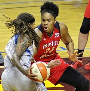 Krystal Thomas - Thomas guarding Seimone Augustus, 2017 WNBA Semifinals