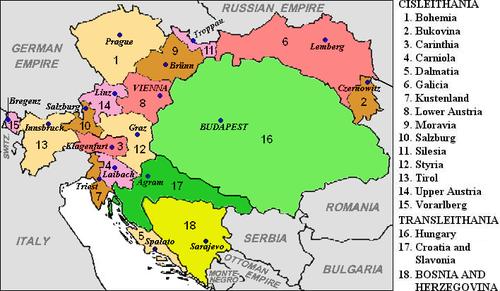 østerrike ungarn kart Habsburgmonarkiet   Wikiwand østerrike ungarn kart