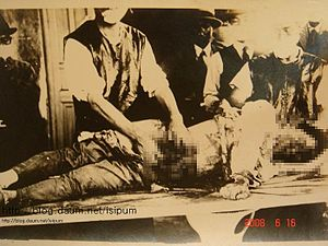 Jinan incident - Autopsy of a Japanese victim killed in the Jinan Incident (Japanese source).
