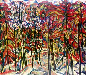 """Crotona Park - Abraham A. Manievich. """"Autumn, Crotona Park, Bronx"""". 1922-1925"""