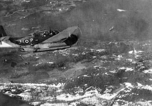 846 Naval Air Squadron - An 846 NAS Avenger from HMS Trumpeter in flight, 1944–45.