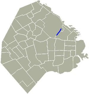Avenida Coronel Díaz - Location of Coronel Díaz Avenue in Buenos Aires.