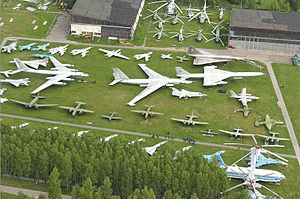 Central Air Force Museum - Aerial view of the museum