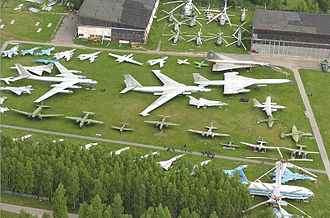 Central Air Force Museum - Aerial view of the outdoor exhibit