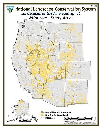 Wilderness study area - Map of BLM Wilderness Study Areas.