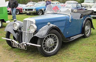 BSA cars - Scout 1203 cc 1938 example