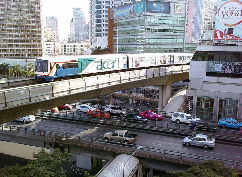 BTS Skytrain over Sala Daeng Intersection.jpg