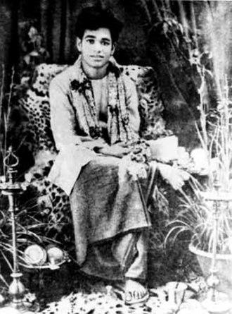 Sathya Sai Baba - Sai Baba at the age of 14, soon after proclaiming himself as the avatar of Shirdi Sai Baba
