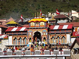 Badrinath Temple Hindu temple of Vishnu in Uttarakhand, India