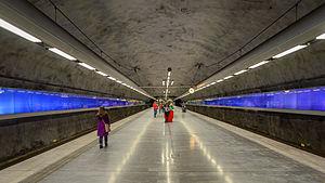 Bagarmossen metro station - Bagarmossen metro station platform, October 2014