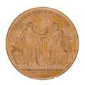 Baksida av medalj med turkiska fursten Mahmud II - Skoklosters slott - 99318.tif
