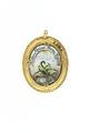 "Baksida av medaljong med texten ""Dulce Meum Terra Tegitur"" - Livrustkammaren - 97853.tif"