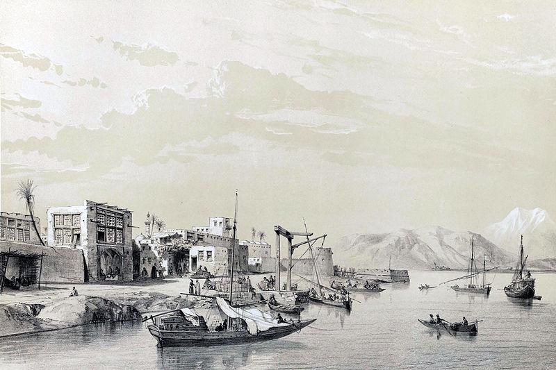 File:Bandar Bushehr by Eugène Flandin.jpg