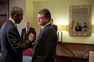 Petro Poroshenko - U.S. President Barack Obama meets with Poroshenko, June 2014.