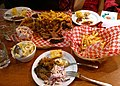 Barbecued goodies at Memphis Blues (15973480260).jpg