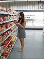Barefoot women in supermarket2.jpg