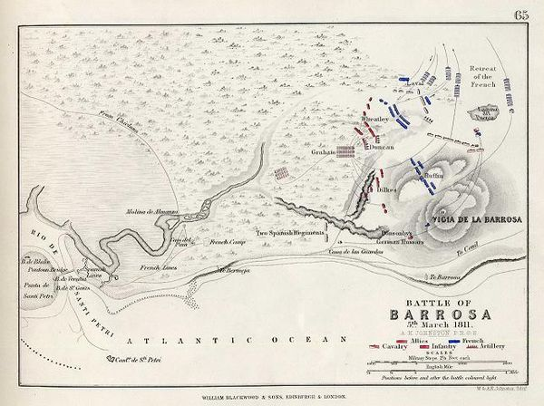 Map of the battle, from Alison's History of Europe Barrosa.jpg