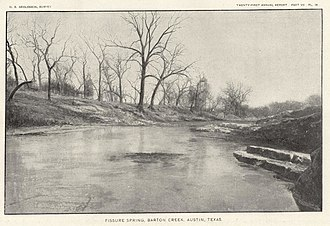 Barton Creek - Image: Barton Springs 1900 USGS