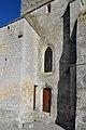 Base du clocher de l'église Notre-Dame-Saint-Jean d'Estrées-la-Campagne.jpg