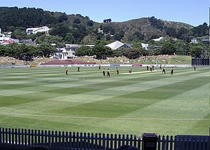T20 cricket match at the Basin Reserve between...