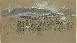 Battle Ringgold Gap Drawing