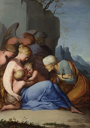 Lubin Baugin - Holy Family with Angels and Saints (c. 1642), National Gallery, London