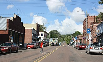 Bayfield, Wisconsin - Image: Bayfield Historic District Downtown WIS13