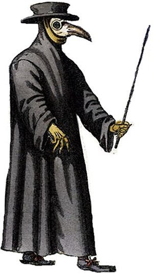 11B-X-1371 - A seventeenth-century depiction of a plague doctor.