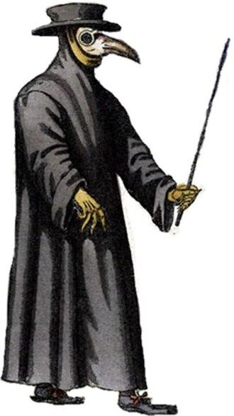 11B-X-1371 - A seventeenth-century depiction of a plague doctor.
