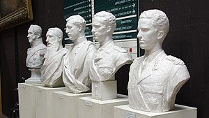 Monarchy of Belgium - Busts of the first five Kings of the Belgians