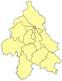 Location of Stari Grad within Belgrade