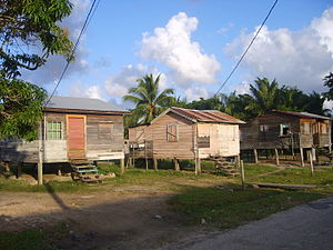 Belize IndependenceVillage WoodenHouses.JPG