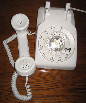 History of AT&T - Standard Western Electric Model 500 telephone, rented (never sold) to U.S. telephone subscribers.