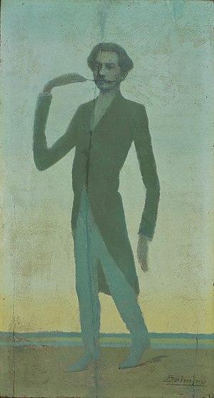 Alberto de Oliveira - A caricature of Alberto de Oliveira,  by Belmiro de Almeida.