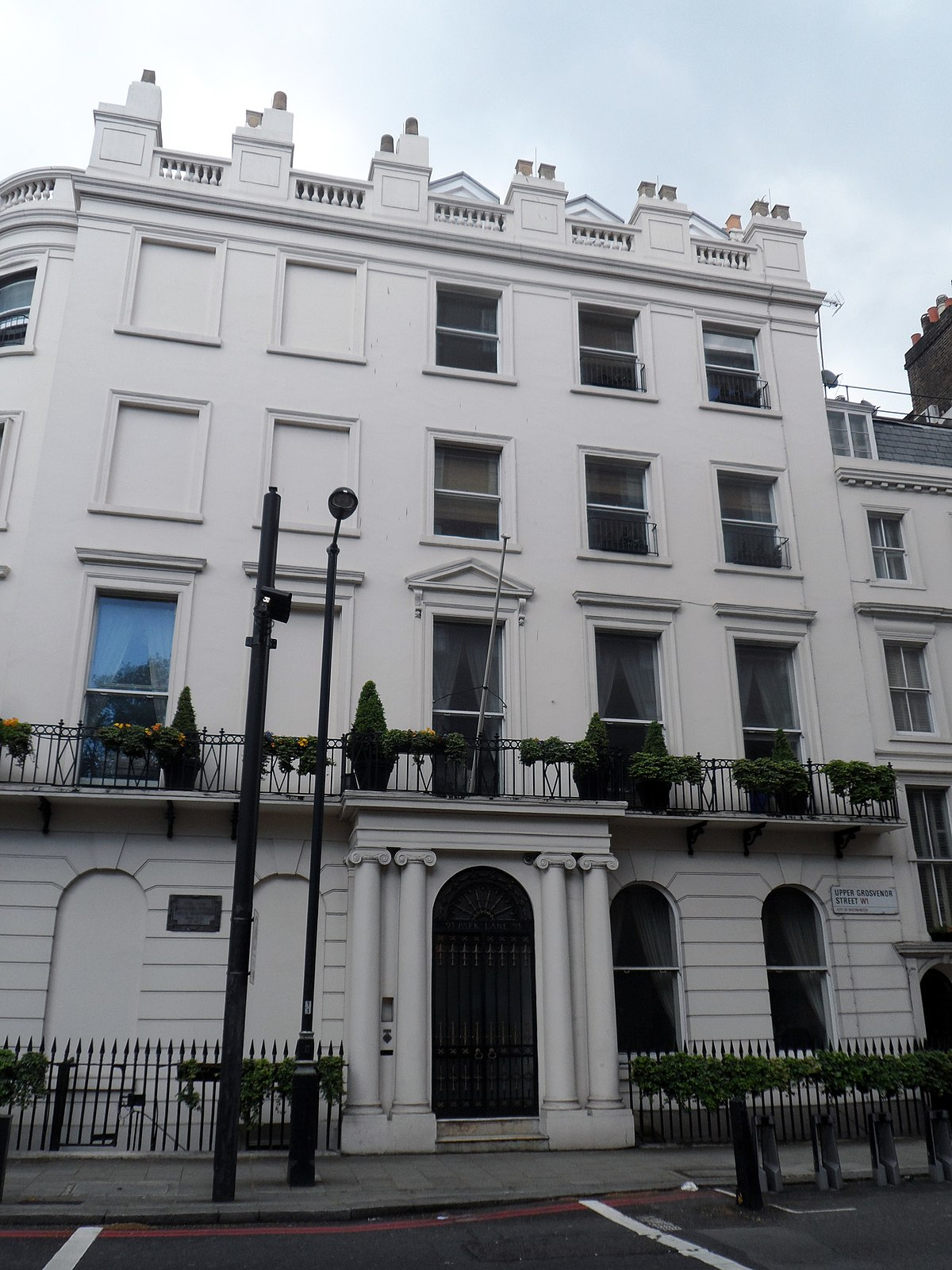 93 park lane wikipedia for Quartiere mayfair londra