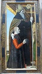 Ambrogio Bergognone: St. Augustine and a Kneeling Donor